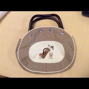 Handbags - VINTAGE CROSS STITCHED GOLF POCKETBOOK