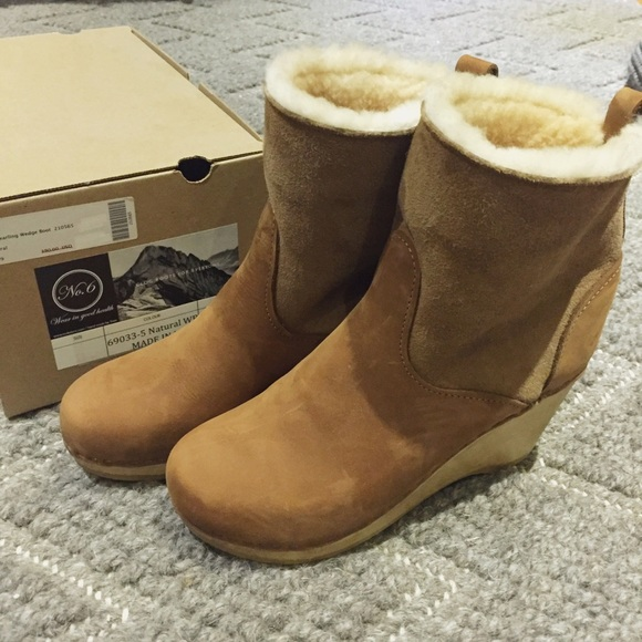 5 Shearling Clog boots - Brown NO.6 Wear Resistance Buy Cheap Purchase High Quality Sale Online With Credit Card Cheap Online rSm4AJdv