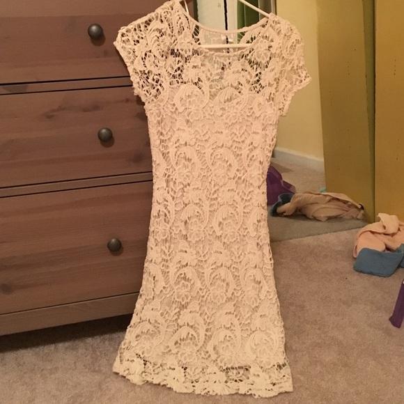 Lauren conrad long crochet dress
