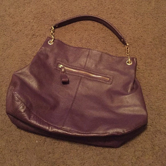 75% off Cuore & Pelle Handbags - Sophia Bag - deep purple hobo bag ...