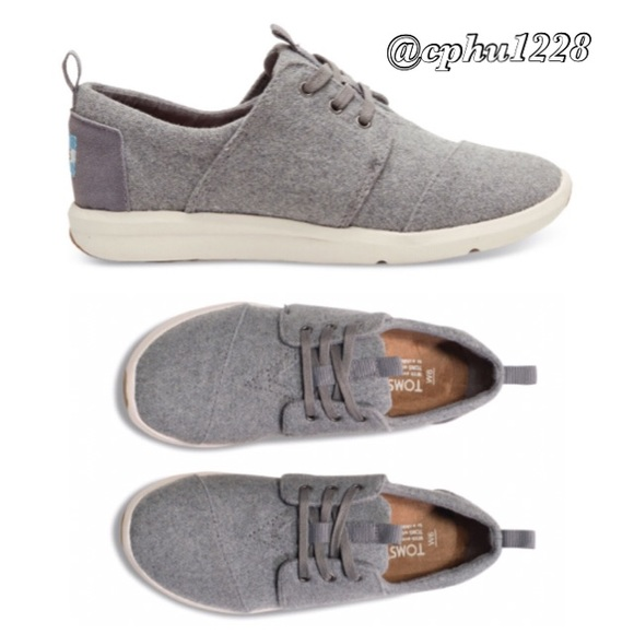 Toms Del Rey Sneaker Grey Felt Suede