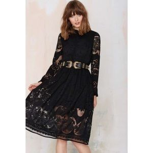 Nasty Gal Dresses & Skirts - Nasty Gal Black Victorian Long Sleeved Lace Dress