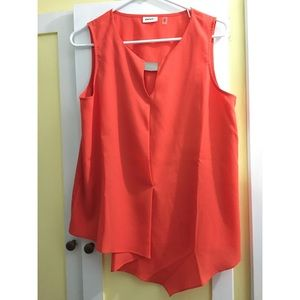 DKNYC Orange blouse