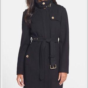 Michael Kors stand collar wool coat
