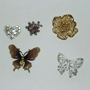 Jewelry - Lot of Five Brooches.