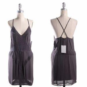 IRO embroidered slip dress