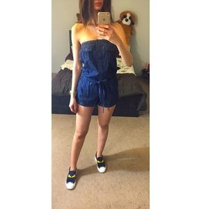 Other - Denim Romper Jumpsuit
