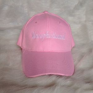 SALE! Baseball Cap UNSOPHISTICATED Pink Hat
