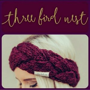 Three Bird Nest Accessories - 🇺🇸🆕Chunky Braided Ear Warmer/Headband