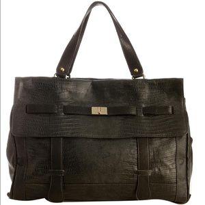 Be & D Handbags - NEW! Be&D Embossed Lizard Celia Satchel