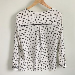 Zara Tops - Zara Long Sleeve Printed Top With Front Zip
