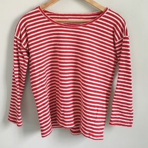 Classic red and white Madewell striped tee