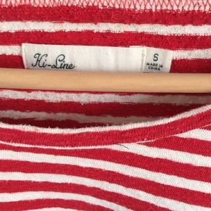 Madewell Tops - Classic red and white Madewell striped tee
