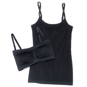 mark by Avon Tops - NEW mark. Black Seeing Double Bralette & Tank!