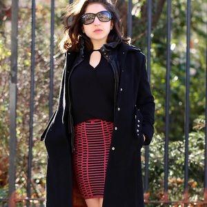 NWT Reversible Merino Cotton Textured Skirt
