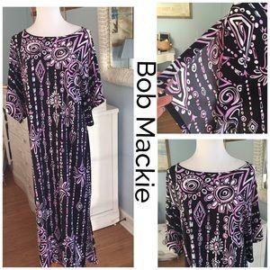 SALEBob Mackie wearable art purple print