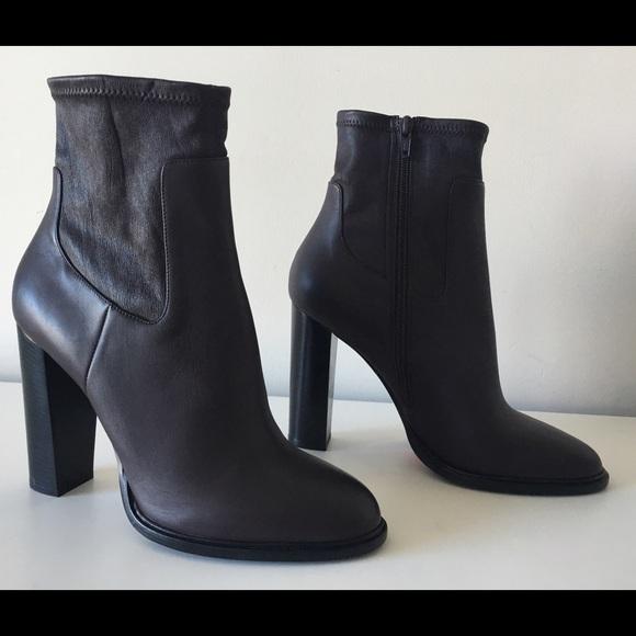Vince. Woman Leather Platform Ankle Boots Black Size 5.5 Vince l3uUK