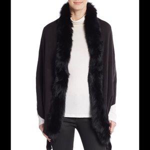 Adrienne Landau Other - Knit with 100% real fox fur trim