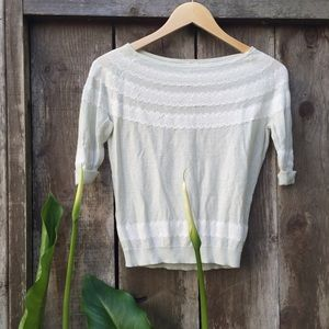Frenchi Sweaters - mint sweater with lace design