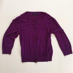 Piazza Sempione Sweaters - BNWoT Piazza Sempione purple silk cardigan sweater