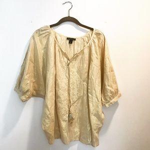 Bandolino Tops - Shimmery gold Indian-style tunic