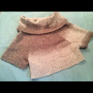 Crop cowl neck sweater
