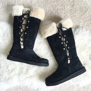 UGG Shoes - UGG Upside Black Lace Up Boots LIMITED EDITION