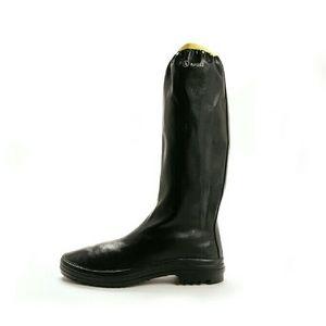 Aigle Shoes - Aigle Women's Rubber Pack Rain Boots Navy/Yellow