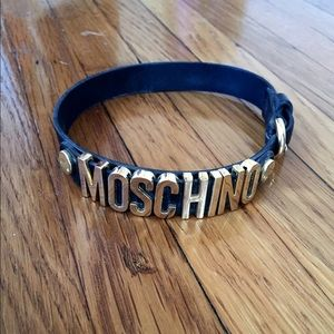 Moschino choker necklace black & gold