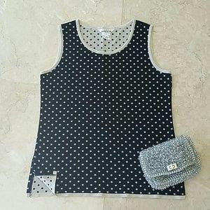 Misook Tops - Misook black on cream camisole