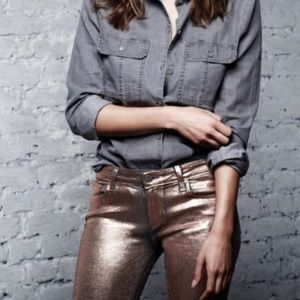 Paige Jeans Denim - Paige verdugo skinny in rose gold coating