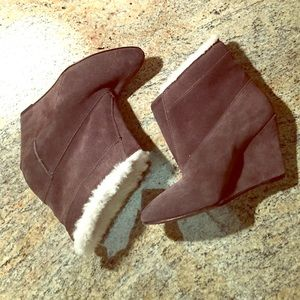 IRO Lined Wedge Suede Booties