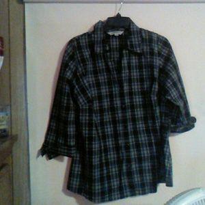 Tops - Plaid blouse