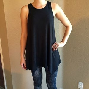 Tops - Black Trapeze Sleeveless Tunic