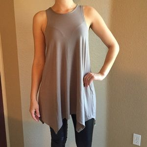 Tops - Taupe Trapeze Sleeveless Tunic