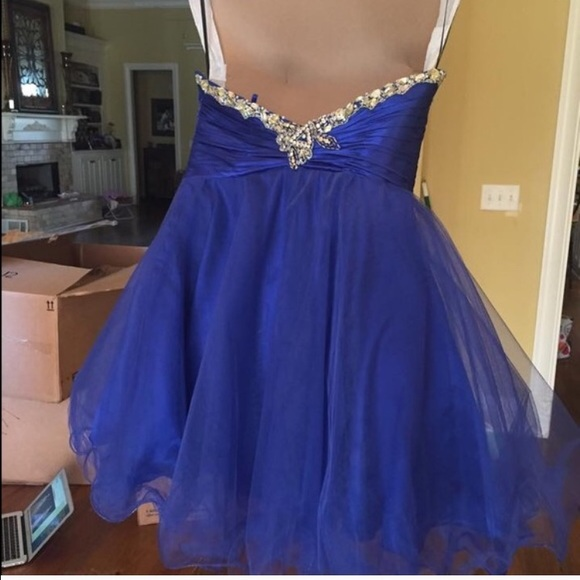 41% off Sherri Hill Dresses & Skirts - Cobalt Blue Prom ...