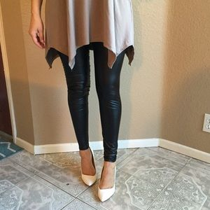 Pants - Super Skinny Faux Leather Legging