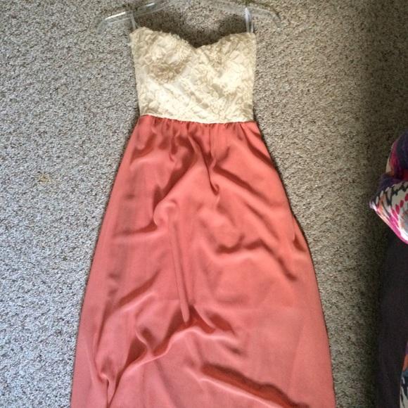 Papaya Dresses & Skirts - Floor length coral strapless dress!