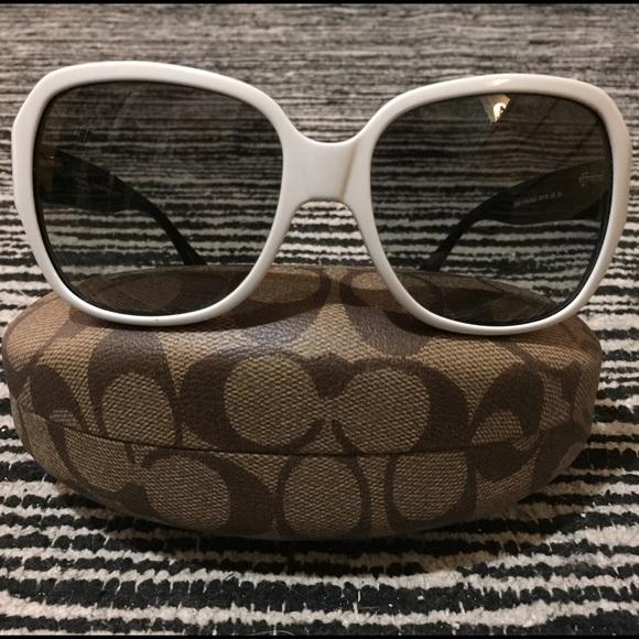 253531e47a Coach Accessories - White Coach Bridget HC8043 Sunglasses