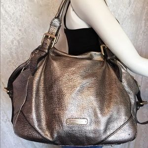 Burberry Oakford Metallic Leather Purse