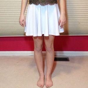 White, flowy skirt
