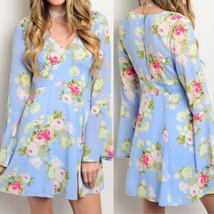 Boutique Dresses - Spring Fling Floral Dress