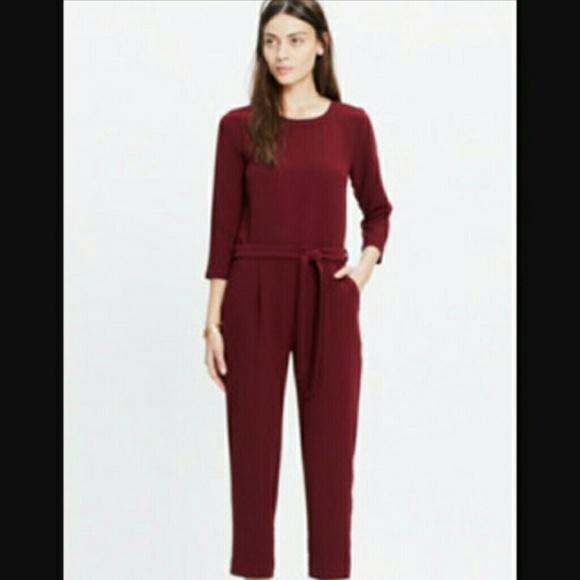 193afd9b341 Madewell Pants - Madewell burgundy jumpsuit