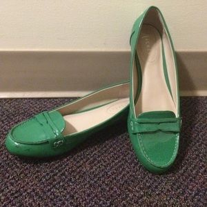 Playful Green Spring Loafers