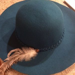Forever 21 Accessories - Forever 21 teal felt floppy hat