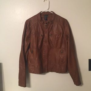 Wet seal faux leather coat