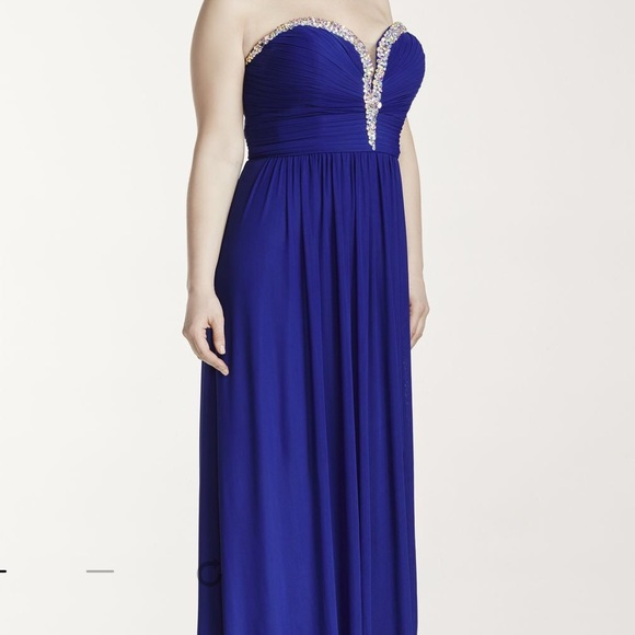 Davids Bridal Dresses Royal Blue Prom Dress From Davids Bridal