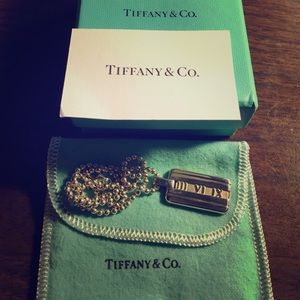 Tiffany &Co Atlas 925 Sterling Silver tag Necklace