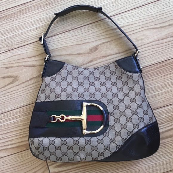 d61d3176178 Gucci Handbags - AUTHENTIC GUCCI MONOGRAM HASLER HOBO