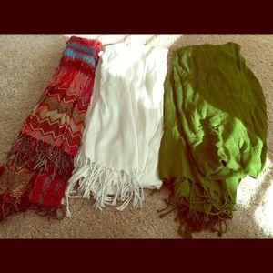 Accessories - New! Three piece scarf bundle
